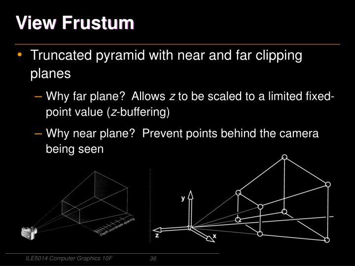 View Frustum