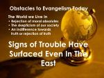 obstacles to evangelism today