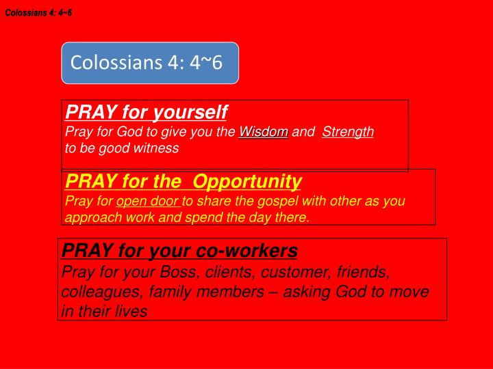 Colossians 4: 4~6