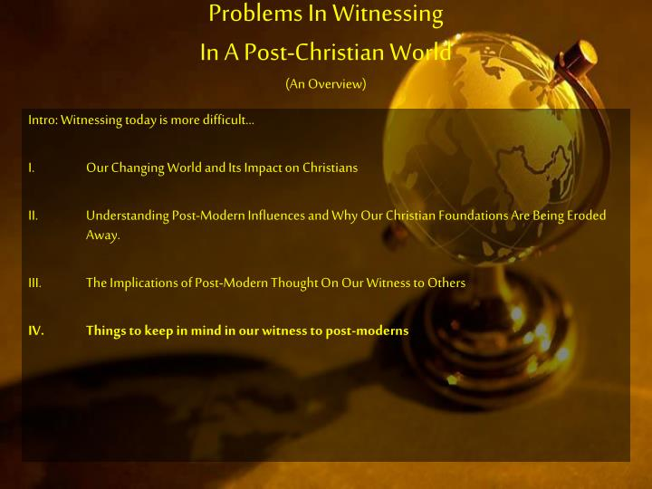 Problems In Witnessing