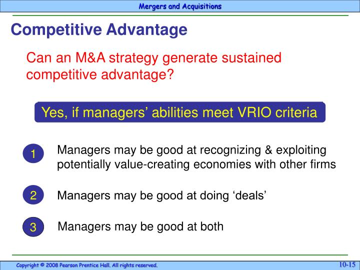 Yes, if managers' abilities meet VRIO criteria