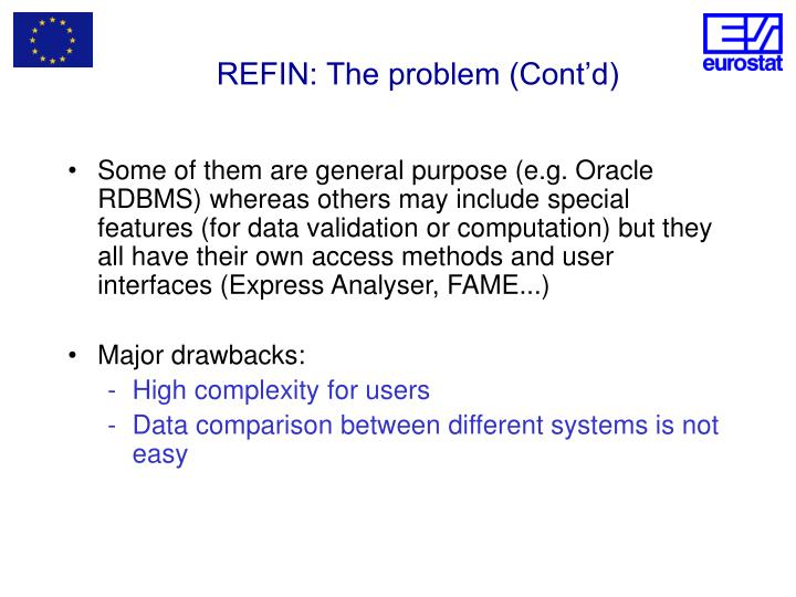 REFIN: The problem (Cont'd)