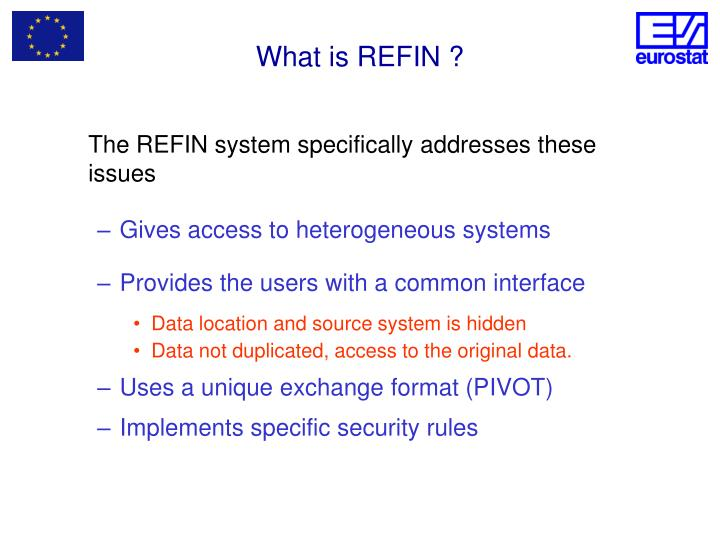 What is REFIN ?