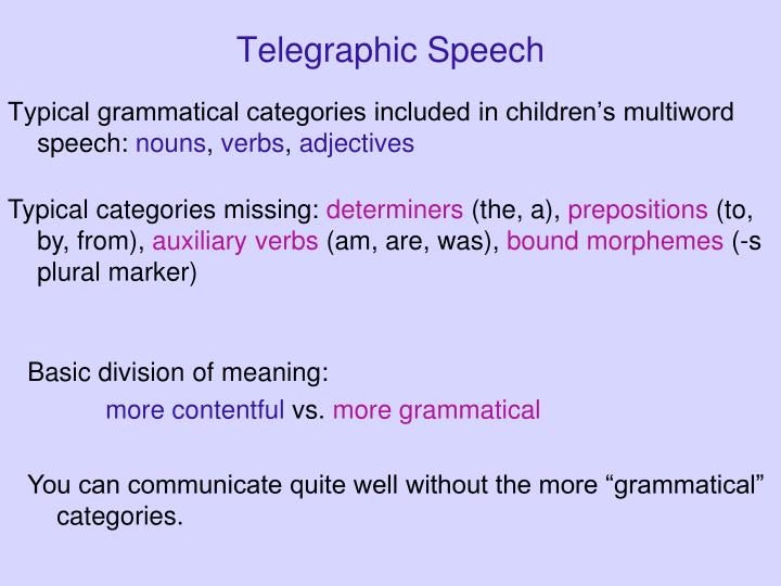 Telegraphic Speech
