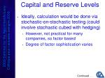 capital and reserve levels2