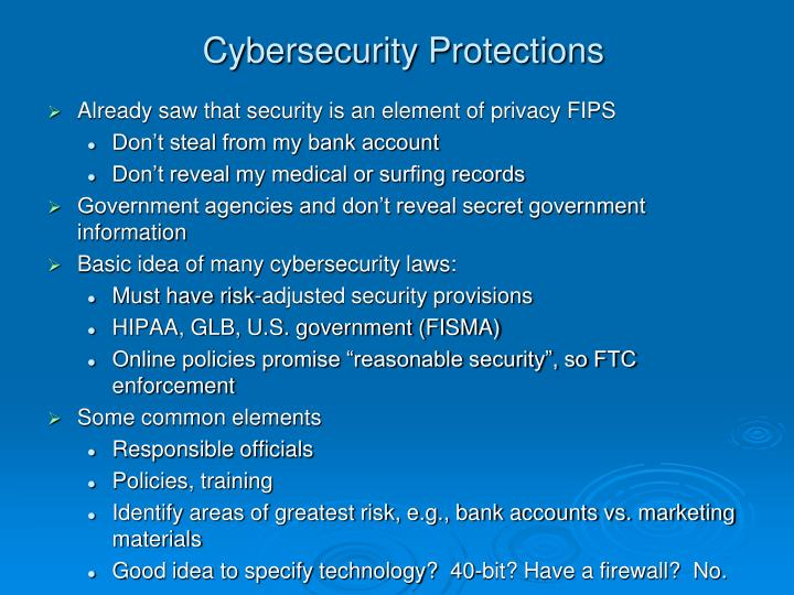 Cybersecurity Protections