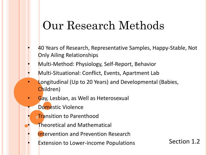 Our Research Methods