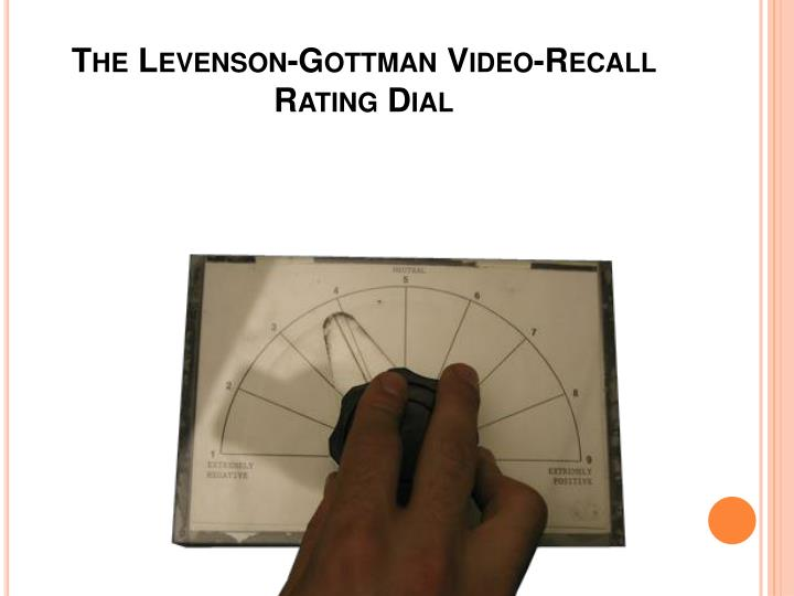 The Levenson-Gottman Video-Recall Rating Dial
