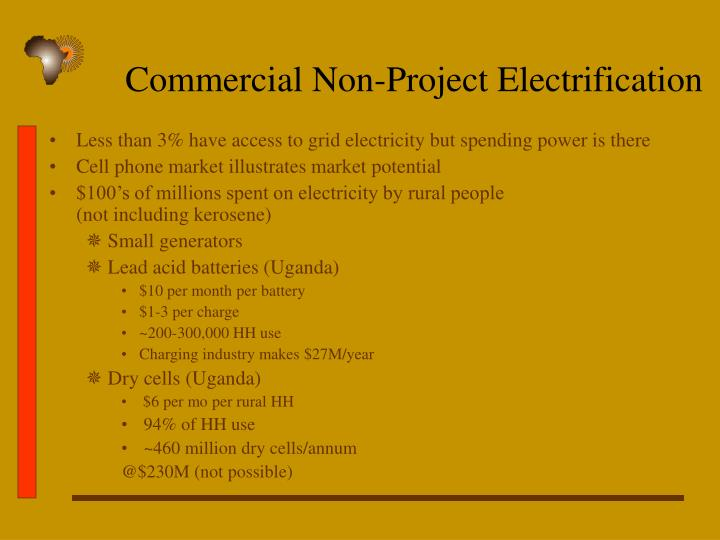 Commercial Non-Project Electrification