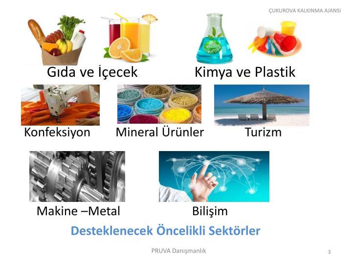 Gıda ve İçecek                Kimya ve Plastik
