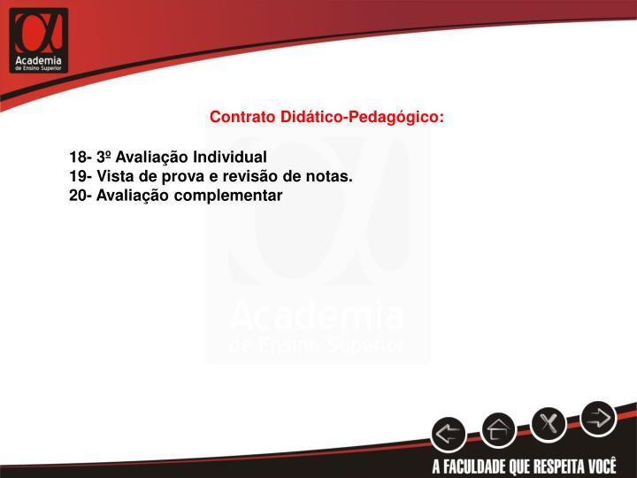 Contrato Didático-Pedagógico: