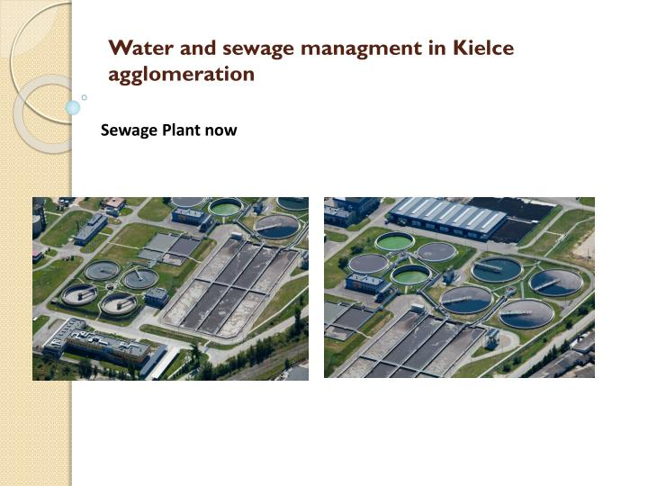 Water and sewage managment in Kielce agglomeration