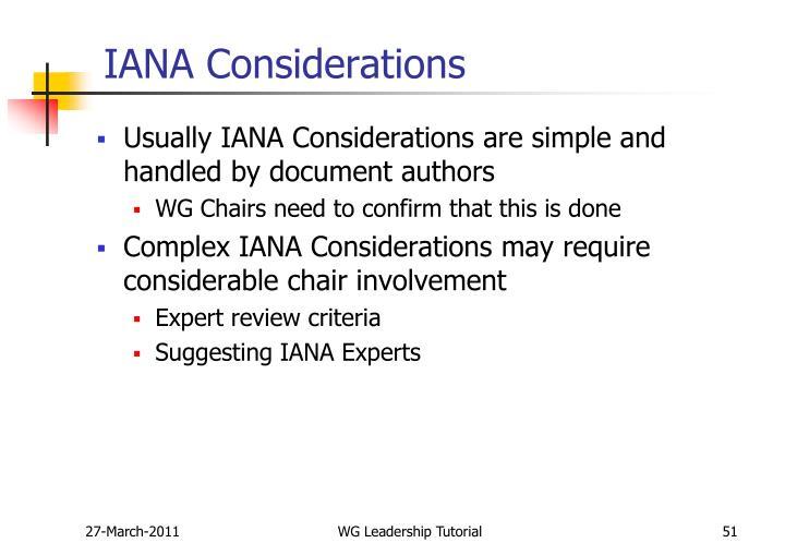 IANA Considerations