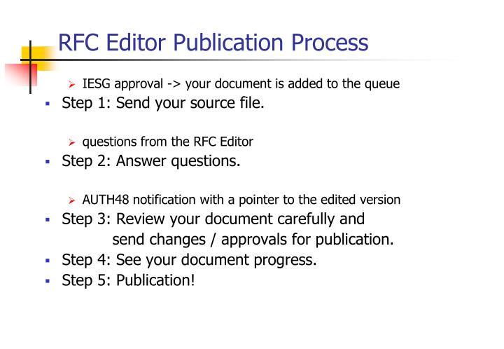 RFC Editor Publication Process