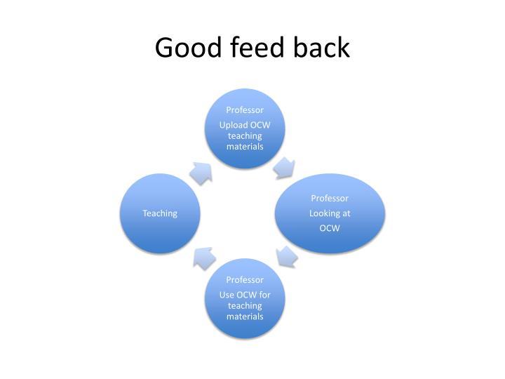Good feed back