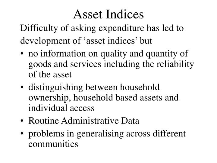 Asset Indices