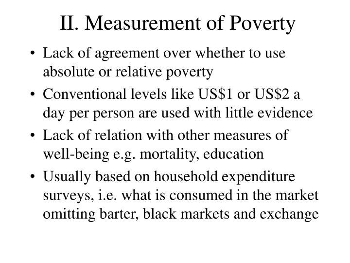 II. Measurement of Poverty