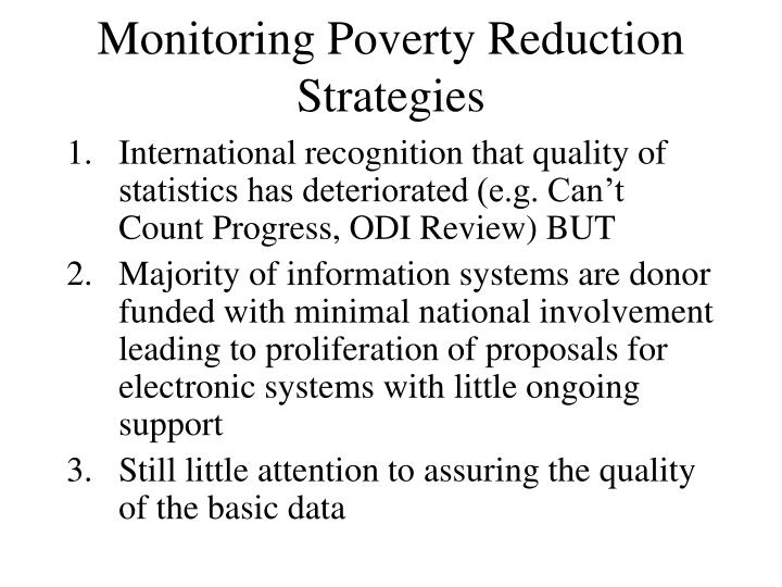 Monitoring Poverty Reduction Strategies