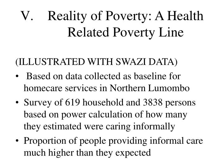Reality of Poverty: A Health Related Poverty Line