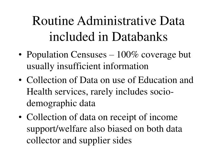 Routine Administrative Data