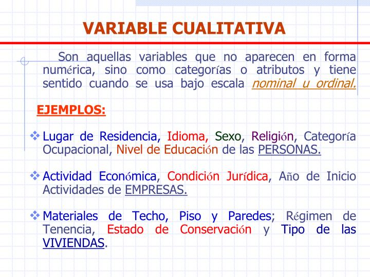 VARIABLE CUALITATIVA