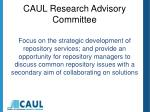 caul research advisory committee