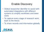 enable discovery