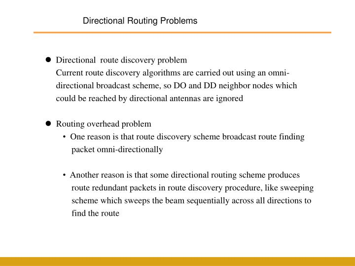 Directional Routing Problems