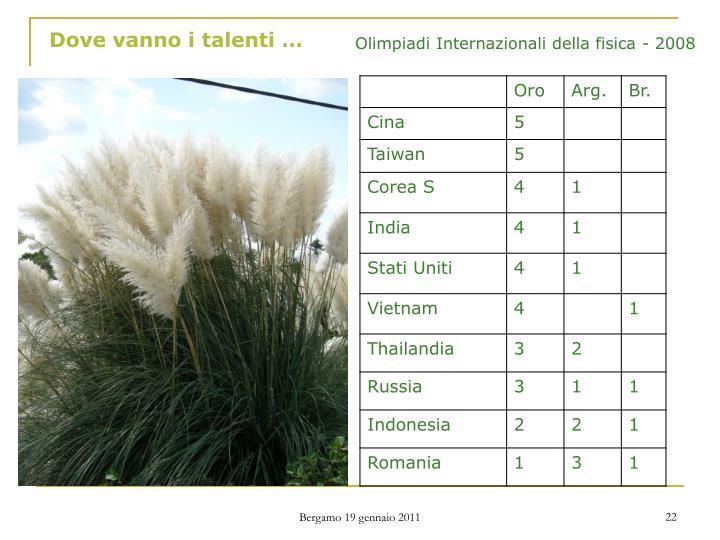 Dove vanno i talenti …