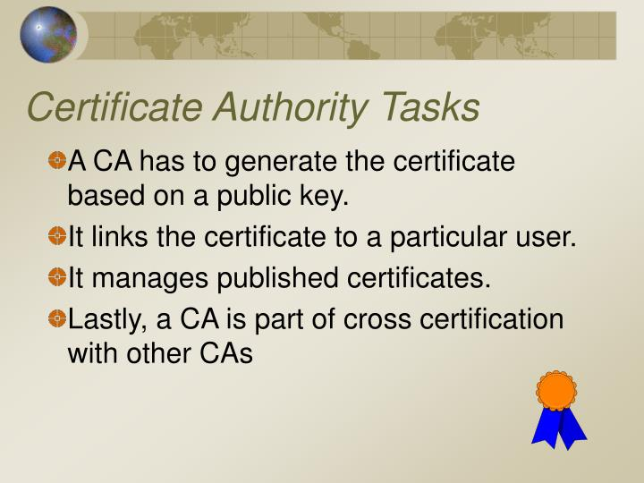 Certificate Authority Tasks