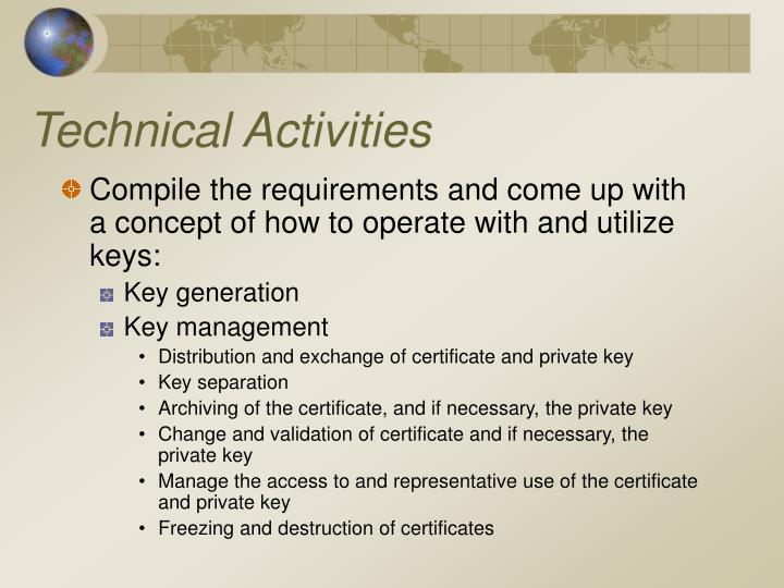 Technical Activities