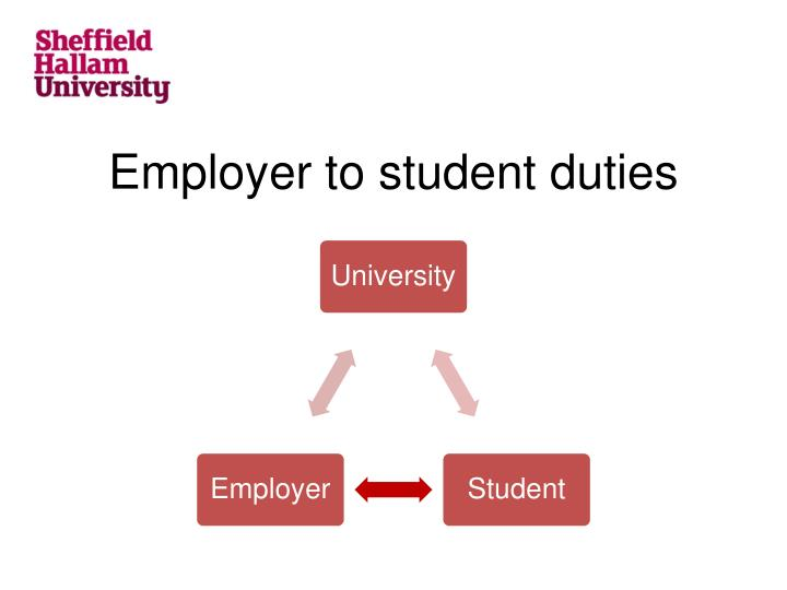 Employer to student duties
