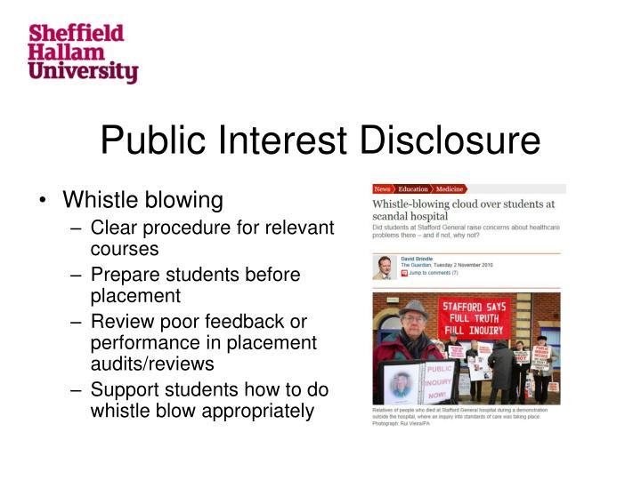 Public Interest Disclosure