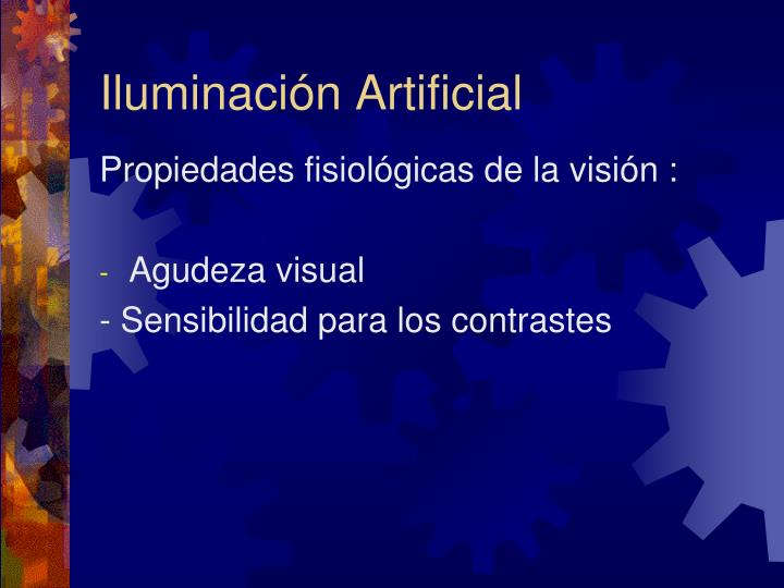 Iluminación Artificial