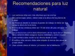 recomendaciones para luz natural