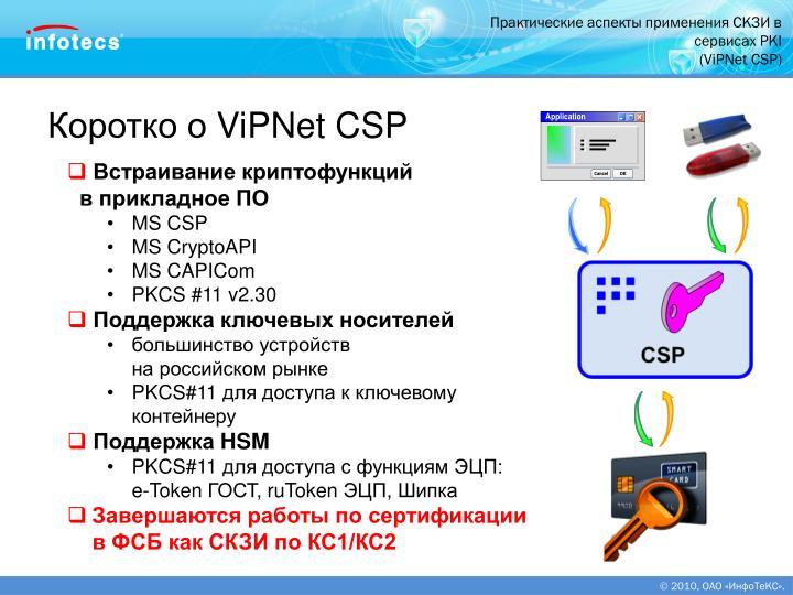 Практические аспекты применения СКЗИ в сервисах