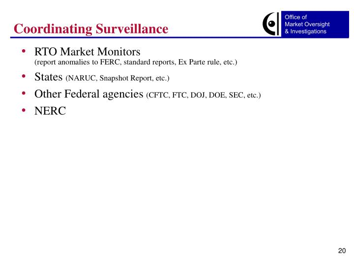 Coordinating Surveillance