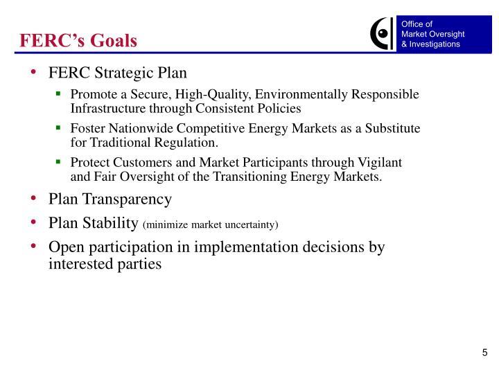 FERC's Goals