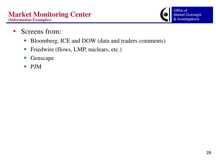 Market Monitoring Center