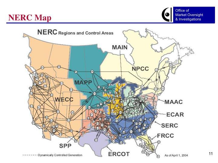 NERC Map