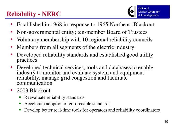 Reliability - NERC