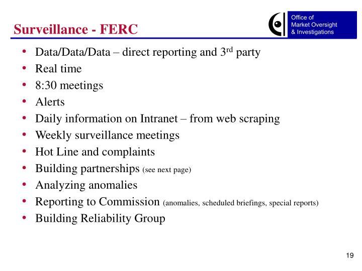 Surveillance - FERC