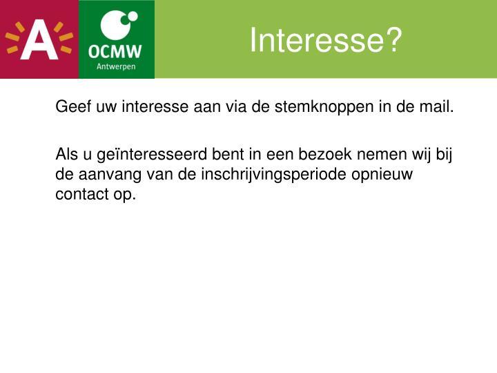 Interesse?