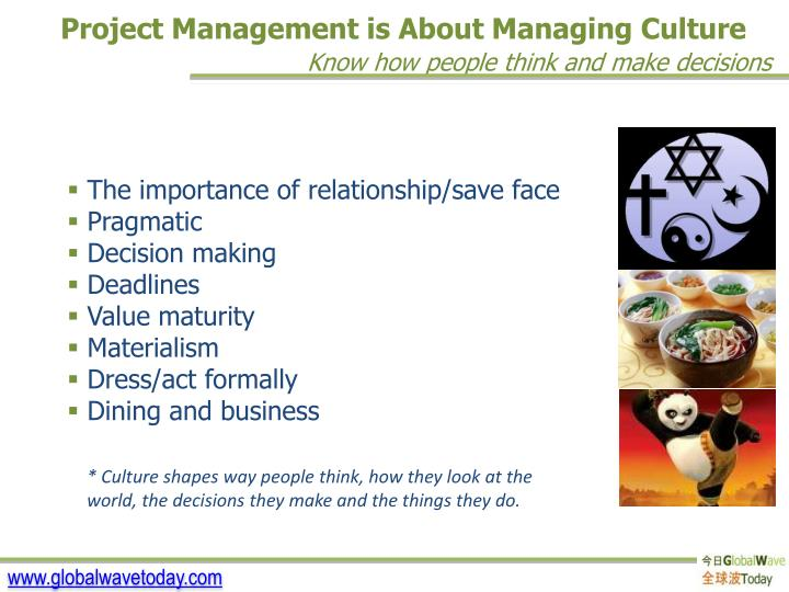 Project Management is About Managing Culture