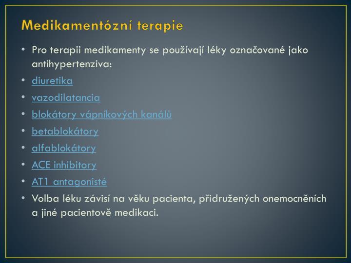 Medikamentózní