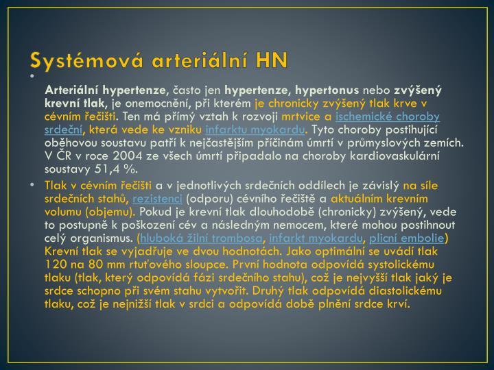 Systémová arteriální HN