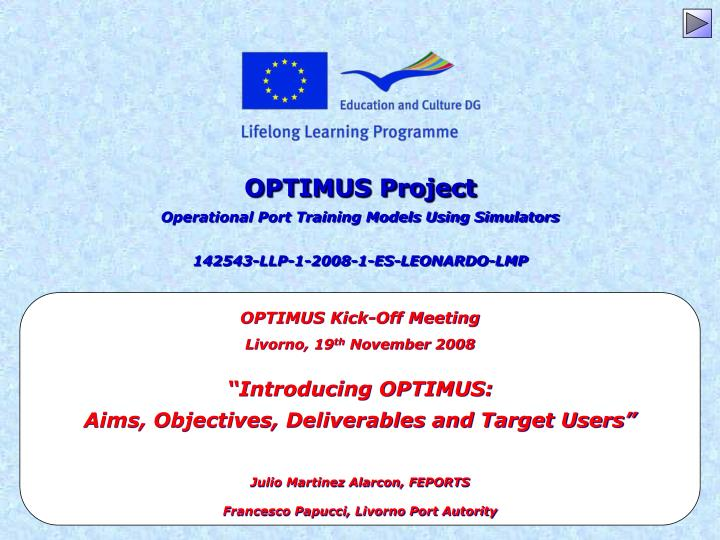 OPTIMUS Project