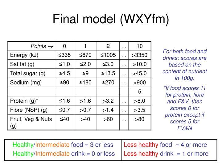 Final model (WXYfm)