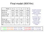 final model wxyfm