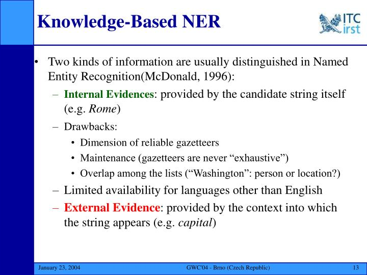 Knowledge-Based NER